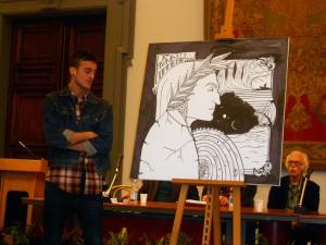 Premio 13 - Campidoglio L'artista Odd guarda la sua opera